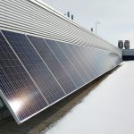Silicon solar panels in nanogrid on roof of Advanced Research Complex at downtown campus of University of Ottawa