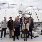 SUNLAB Solar Test Site at Sports Complex parkade rooftop: Tracker 1 with Morgan Solar flat CPV modules