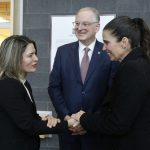 Professor Karin Hinzer, uOttawa President Jacques Frémont, and federal Minister of Science Kirsty Duncan