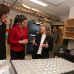 Karin Hinzer, Kirsty Duncan, and Bettina Hamelin discuss concentrator photovoltaic modules